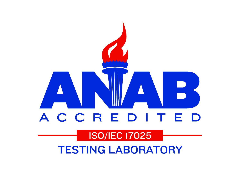 ANAB Accredited ISO/IEC 17025 Testing Laboratory